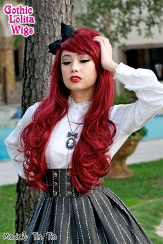 COUNTESS COLLECTION - Rouge(Burgundy Mix) high volume bouffant drag queen wigs perfect for Peg Bundy Halloween and other 1960s hairstyles including Hime Gyaru.