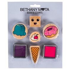 Bethany Mota Sweets Rubber Stamps with Ink : Target