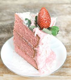 Strawberry Cream Cake with Strawberry Cream Cheese Frosting