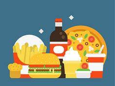Fast food  . #fast #food #vector #flat #illustration #art #draw #digital #cola #burger #pizza #design #adobe #illustrator #ice #cream #soda
