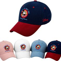 Mens Womens Authentic Disney Mickey Mouse Minnie Baseball Cap Snapback Hats