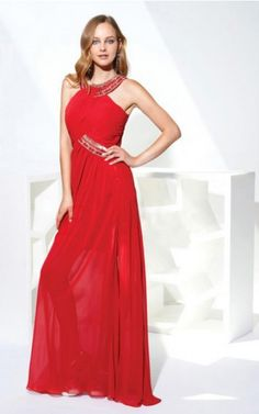 Jewel Sleeveless A-line Zipper Floor-length Formal Dresses Red Formal Dresses, Terani Couture, Shades Of Red, Mother Of The Bride, Homecoming Dresses, Evening Dresses, White Dress, Elegant, Shopping