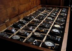 A whole box of luxury watches which is your selection? Presenting the finest Men's Watches collection inspiration sharing. Best gift for men in fine suits. A whole box of luxury watches which is your selection? Watch Box, Watch Case, Watch Display Case, Cool Watches, Watches For Men, Men's Watches, White Watches, Stylish Watches, Watches Online