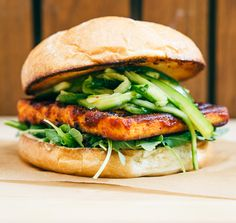 Instead of making vegan Dry-Rub BBQ Tofu Gua Bao, you can make a vegan BBQ tofu burger with a bit of Asian flavors. All you need is pickled cucumber slaw,
