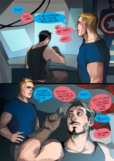 Steve and Tony // This is adorable click the link and READ IT READ IT READ IT