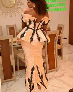 African Wedding Attire, African Attire, African Wear, African Women, African Dresses For Kids, African Lace Dresses, African Fashion Dresses, Nigerian Lace Styles, Nigerian Outfits