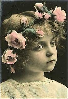vintage child with head wreath