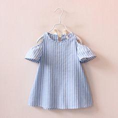 Cold Shoulder Stripe Dress - Brand New