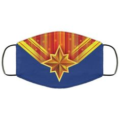 Captain Marvel Handmade Face Mask  Unisex 3 Layer Face   Etsy Captain Marvel, Marvel 3, Mens Face Mask, Face Masks For Kids, Stretched Ears, Male Face, Woman Face, Best Gifts, Layers