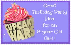 Cupcake Wars Party ~ great birthday party ideas & photos