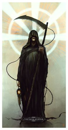Yes, Donovan is a Reaper. No, he does not look like this, nor does he carry a scythe. Now Death, on the other hand...