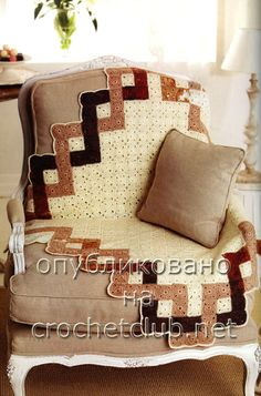 Inspiration :: Creative layout of granny squares makes an interesting border. Would make an interesting quilt...
