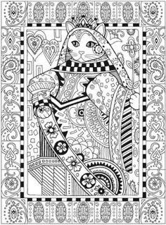 Creative Haven Cats By Marjorie Sarnat Queen Kleo Kat