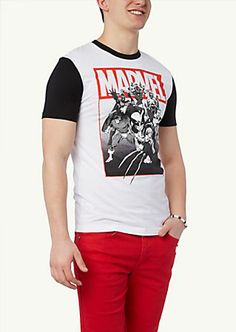 image of Marvel Comics Color Block Tee