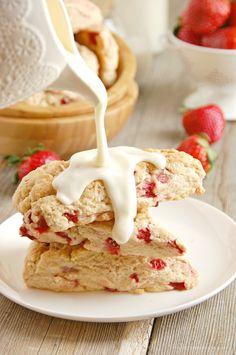 Strawberries  Cream Scones
