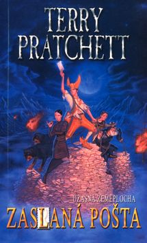 Terry Pratchett. Going Postal. Another British humorous fantasy from the Discworld series.