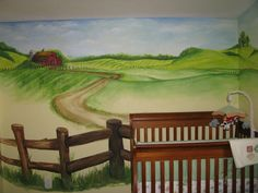 Barn Farm Nursery Mural