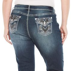 f92e098a223 Boutique Plus Womens Jeans 18W Tall Stretch Wing Embellished Bling NEW  $69.00 #BoutiquePlus Casual Clothes