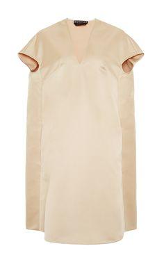 Satin V-Neck Dress by Rochas - Moda Operandi