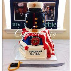 Wedding cake for motivated Marines