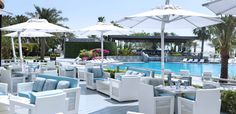 Spend the day enjoying  Mediterranean delicacies on the beautiful terrace of La Med overlooking the pool.