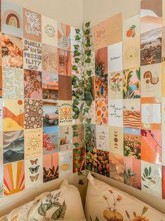 Boho Dorm Room, Teen Room Decor, Room Ideas Bedroom, Teen Bedroom, Bedroom Wall Collage, Photo Wall Collage, Boho Aesthetic, Aesthetic Bedroom, Vsco Themes