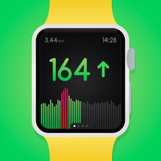 """UI Animation Concept for a smart watch interface """"Woospo"""". #UI #UX #Design #Motion #Interface #Watch #Animation #App #Inspiration #Apple #Minimalism #GIF"""