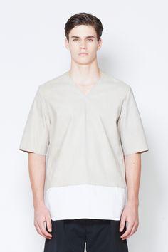3.1 Philip Lim - Nubuck/Poplin Shirt