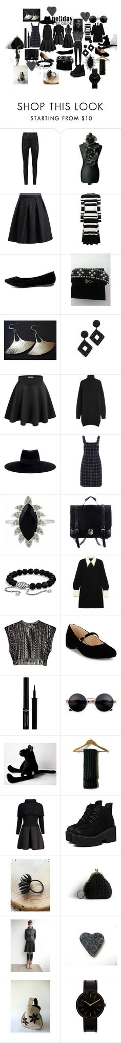 """""""BLACK  PARTY"""" by talma-vardi ❤ liked on Polyvore featuring Thot, Manokhi, Proenza Schouler, Breckelle's, Kenneth Jay Lane, Isabel Marant, Maison Michel, Red Herring, Meghna Jewels and David Yurman"""