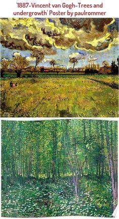 1887-Vincent van Gogh-Trees and undergrowth Poster Beginner Yoga, Yoga For Beginners, Vinyasa Flow Sequence, Vincent Van Gogh, Trees, Poster, Outdoor, Yoga For Complete Beginners, Yoga For Complete Beginners