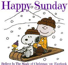 SNOOPY Happy Sunday Quote