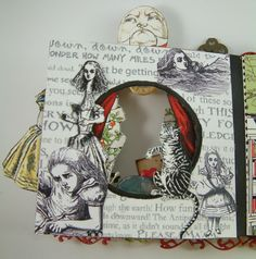Artfully Musing: Alice in Wonderland Tunnel Book