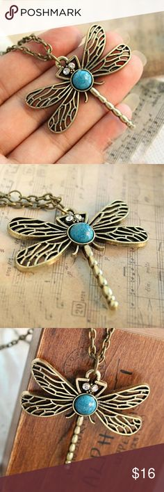 5 for $25 Dragonfly Pendant Necklace Dragon fly pendant necklace Jewelry Necklaces