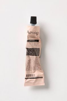 aesop. design typography package label cream shade