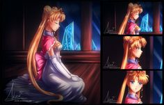 Christmas Neo Queen Serenity by Axsens Sailor Moon Fan Art, Sailor Moon Usagi, Sailor Moon Crystal, Sailor Jupiter, Sailor Moon Background, Princesa Serenity, Neo Queen Serenity, Moon Princess, Sailor Scouts