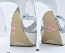 Unik Occasions - Crystal Rhinestone I Do Wedding Shoe Stickers - Pink