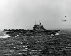 April 1942.  USS Hornet launches Doolittle Raiders to bomb Japan