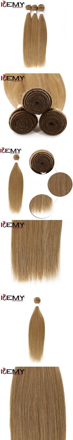 "KEMY HAIR Ombre Blonde hair 1Pcs/Pack  18""  Pre-colored Human Hair Weave Bundles Non-remy Straight 100% Brazilian Human Hair"