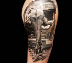 Girl tattoo by Vasilii Suvorov