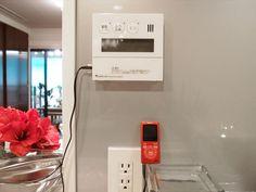 シティテラス加賀 モデルルームのキッチンにあるお風呂スイッチ