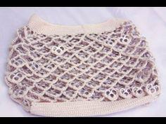 Como hacer una bolsa con anillas de lata: Bolsa de Corazones Parte 1 - little rings purse part 1