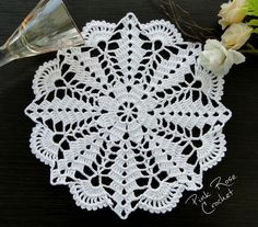 Ideas For Crochet Patrones Ganchillo - Diy Crafts - DIY & Crafts Lace Doilies, Crochet Doilies, Crochet Flowers, Crochet Lace, Crochet Mandala, Filet Crochet, Crochet Motif, Blanket Crochet, Crochet Designs