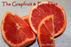 Grapefruit and Egg Diet #loseweight #fatburning