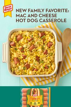 Thinking about topping your dog with mac and cheese? This seriously tasty Mac an. Easy Dinner Recipes, Snack Recipes, Easy Meals, Cooking Recipes, Cooking Chef, Pasta Recipes, Yummy Recipes, Snacks, Tasty Mac And Cheese