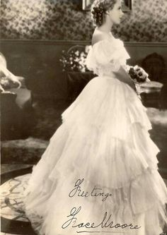 See Grace Moore pictures, photo shoots, and listen online to the latest music. Grace Moore, Classical Music, 1920s, One Shoulder Wedding Dress, Flower Girl Dresses, Photoshoot, Wedding Dresses, Pictures, Image