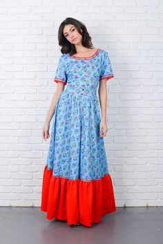 Pictures of blue dresses 70s images