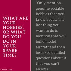 What Are Your Hobbies? #interview #tips #career