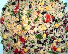 This black bean and couscous salad recipe from Food.com makes for an easy and delicious side for your next BBQ.