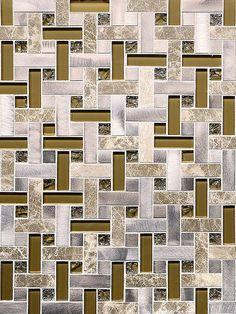Modern Brown Metal Mosaic Kitchen Backsplash Tile backsplash.com ...