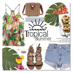 """""""Tropical heat by Yoins"""" by purpleagony ❤ liked on Polyvore featuring Pier 1 Imports, Levi's, Summer, tropical, yoins, yoinscollection and loveyoins"""